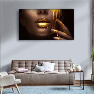 tablou canvas buze aurii