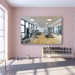 Tablou canvas sala fitness biciclete